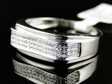 Wedding Fashion Band Ring 0.33 Ct 10K Mens White Gold Round Diamond Engagement