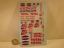 "DECALS 1/24 PETROLIER  "" TOTAL "" - VIRAGES T66"