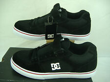 New Mens 12 DC Tribe Black Red Trim Suede Skate Shoes $70