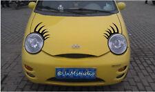 New set of car eyelashes sticker for Chery Q3,funny car eyelash stickers