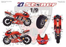 "[FFSMC Productions] Decals 1/9 Ducati GP7 2007 ""Tabac"""