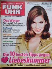 FUNK UHR 33 - 2000 * TV: 19.-25.8. Katja Woywood (Landarzt) Michael Schanze