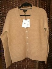 THEORY-VNK Button Cardi-Camel Paramour-Yak/Merino Wool Blend-Large-NWT