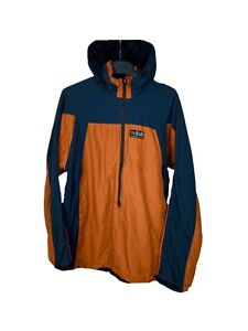 Rab Pertex Equlibrium Vapour vintage orange anorak quarter zip fleece jacket