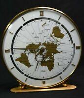 Vintage 1965 Kundo Kieninger & Obergfell World Mantle Clock West Germany