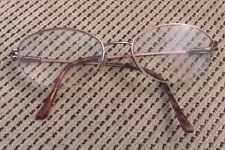 Luxottica Lu 2248 T346 51▫�18 130 Eyeglasses Half Rimless Frame Spring Hinges
