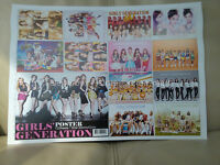 GIRLS GENERATION SNSD K-POP 12 Cut Posters Collection Bromide 12PCS & Cover New!