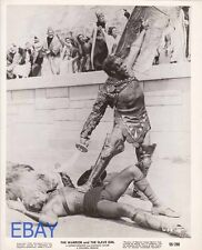 Barechested men fight Warrior and the Slave Girl VINTAGE Photo