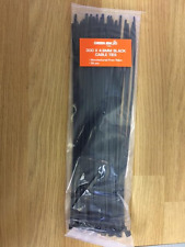 BLACK CABLE TIES FIXERS EASY TO USE REALLY STRONG LARGE 300MM X4.8MM PACK OF 38