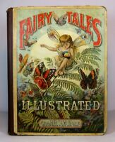 FAIRY TALES Rare Antique Book 1883 Victorian ILLUSTRATED Magic FANTASY Witch Elf