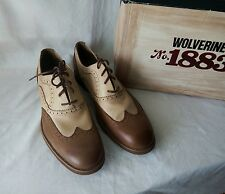 1883 by Wolverine Men's Brown Horace Wing-Tip Brogue Oxford Size 10.5M