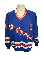 NHL Starter New York Rangers Mark Messier #11 Adult Large Blue Sweatshirt