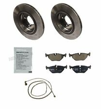 NEW BMW E46 325Ci 99-06 Rear Brake Pad Wear Sensor Rotors &  Squeal Paste OEM