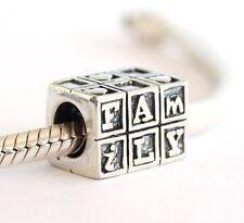NEW 925 Sterling Silver European Bracelet Charm Bead Family