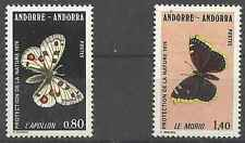 Timbres Papillons Andorre 258/9 ** lot 3017