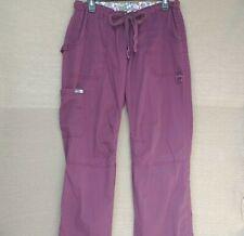 Koi By Kathy Peterson Women's Scrub Cargo Pants Size Large Burgundy. Euc!