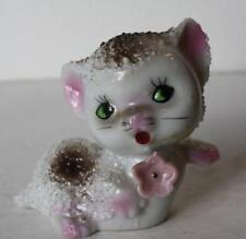 Vintage Porcelain-Ceramic Popcorn Bubble Spaghetti Cat-Kitten Figurine-Japan