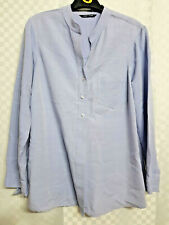 Ladies EVANS EAST COAST Buttoned Shirt Size 16 Blue Long Sleeve Office Work VGC