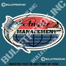 ANGLER MANAGEMENT DECAL STICKER FISHING BOAT JET SKI CAR TRUCK DECALS STICKERS
