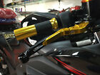 Gold Extending Brake Clutch Lever Set For Yamaha YZF-R25/YZF-R3 R3 2015-2016 New