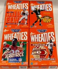 4 GM 1999 Wheeties Boxes/ Jerry Rice, Steve Young, John Elway & Brett Favre