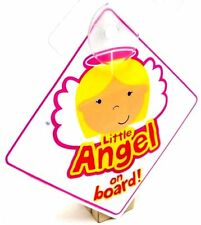 Little Angel On Board Sign Suction Cup Vehicle Safety Angle On Board Car Sign