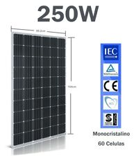 Panel solar 250w Policristalino Monocristalino Negro 60 Células 24v