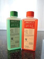pH Pufferlösung, Set 250ml pH4 + pH7, Industriequalität, Made in Germany