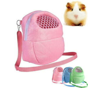 Small Pet Carrier Pouch Guinea Pig Chinchilla Rabbit Hamster Travel Warm Bag