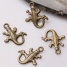30pcs antiqued bronze color cute lizard design  charms  EF3358