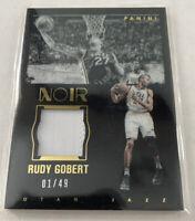 2015-16 Panini Noir Rudy Gobert Patch 01/49 SP Utah Jazz 🔥
