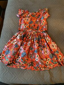 Monsoon Red / Multi Floral Summer Dress Age 10