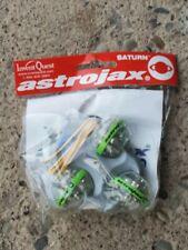 ORIGINAL Vintage Astrojax Saturn Green LED Ball Toy Invent Quest April 2003 NOS