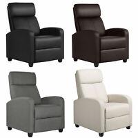 Recliner Chair Single Modern Reclining Sofa  Home Theater Seating Club Chair