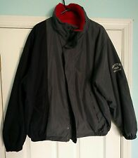 Vintage 90's Nautica Competition Reversible Fleece Jacket Gray Red Blue Sz LARGE
