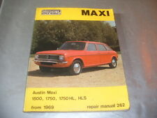 """AUSTIN MAXI  WORKSHOP MANUAL  by  INTEREUROPE   """" QUITE RARE COLLECTABLE"""""""