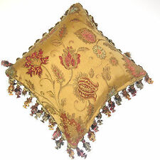Chenille Floral Traditional Decorative Cushions