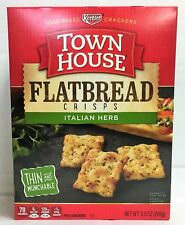 Keebler Town House Flatbread Crisps Italian Herb Oven Baked Crackers 9.5 oz