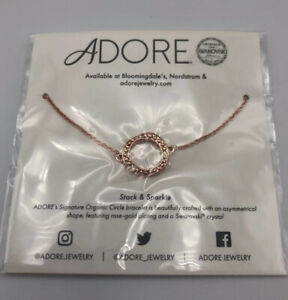 Adore Swarovski Signature Organic Circle Bracelet in Rose Gold $39 MSRP