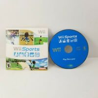 Nintendo Wii Sports Video Game w/ Slip Cover Tested & Working
