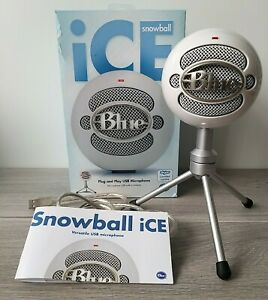 Blue Microphones Snowball iCE USB Cardioid Microphone White Skype Certified