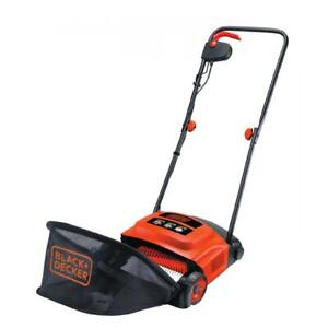 BLACK+DECKER 600W Corded Electric Garden Lawn Mower Raker & Grass Box GD300-GB