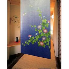 Japanese Noren Door Curtain Tapestry [ MORNING GLORY ] 85x150cm Made in Japan