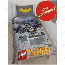 Lego DC Superheroes Batman Single Duvet Cover 2 in 1 Reversible
