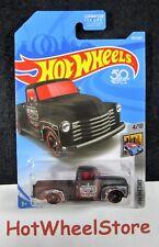 2018  Hot Wheels  Black  '52 Chevy Pickup   Metro Series  Card #327  HW50-110418