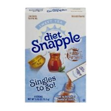 (72 Packets) Diet Snapple Sweet Tea Singles To Go- (12 Sealed Boxes)
