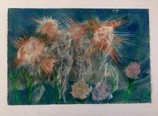 Salvador Benitez, Signed Original Flowers Painting 1991, Flores, Puerto Rico Art