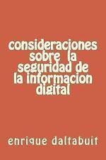 Consideraciones Sxobre la Seguridad de la Informacion Digital by enrique...