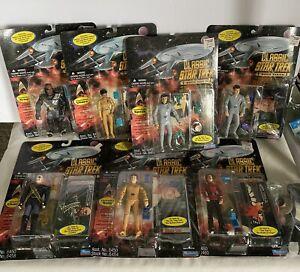 Classic Star Trek Movie Series Playmates Lot Spock McCoy Uhura Sulu Kruge Saavik