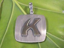 "Vintage Pierre Cardin 14k & Sterling Silver ""K"" pendant-properly re-finished"